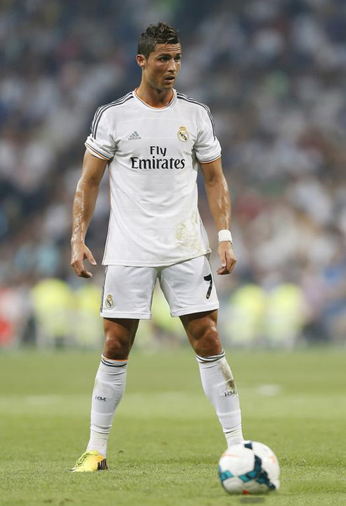 Cristiano Ronaldo Free Kick Stance Back View Real Madrid vs Betis (...